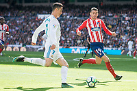 Real Madrid Cristiano Ronaldo and Atletico de Madrid Koke Resurreccion during La Liga match between Real Madrid and Atletico de Madrid at Santiago Bernabeu Stadium in Madrid, Spain. April 08, 2018. (ALTERPHOTOS/Borja B.Hojas)