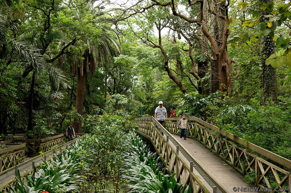 The Taipei Botanical Gardens in Taipei, Taiwan.