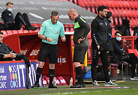 Football - 2020 / 2021 Sky Bet League One - Charlton Athletic vs Lincoln City - The Valley<br /> <br /> Referee Kevin Johnson replaced by 4th official Karl Brook.<br /> <br /> COLORSPORT/ASHLEY WESTERN