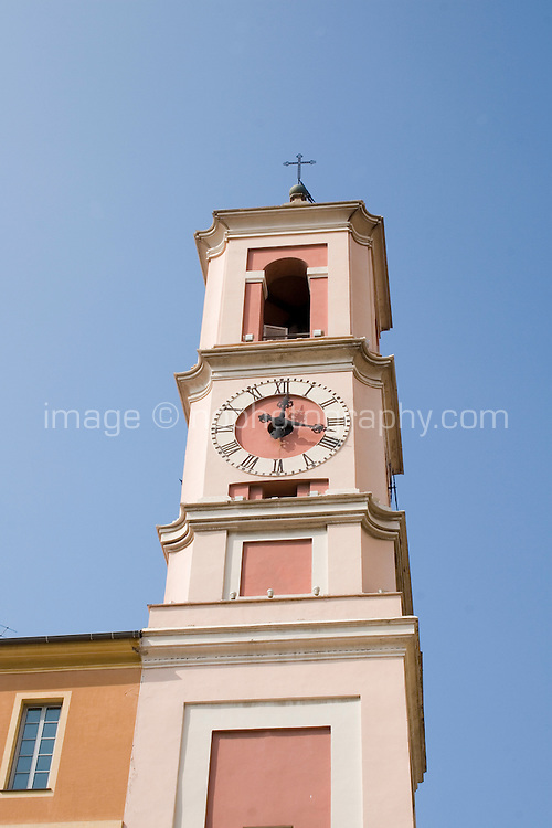 Clock tower in the old town in Nice the South of France