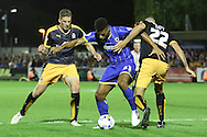Lyle Taylor of AFC Wimbledon Sky Bet League 2 match between AFC Wimbledon and Cambridge United at the Cherry Red Records Stadium, Kingston, England on 18 August 2015. Photo by Stuart Butcher.