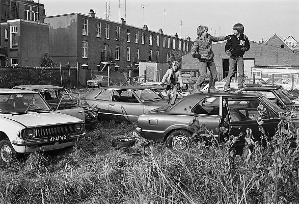 Nederland, Nijmegen, 10-10-1980Serie beelden over het wonen en sociale woningbouw in verschillende wijken van de stad.In het kader van stadsvernieuwing en renovatie van buurten gemaakt. Nijmegen Oost.FOTO: FLIP FRANSSEN/ HH