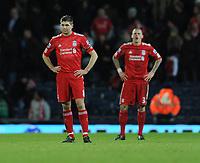 An Unhappy Steven Gerrard<br />Liverpool 2010/11<br />Blackburn Rovers v Liverpool 05/01/11 <br />The Premier League<br />Photo: Robin Parker Fotosports International