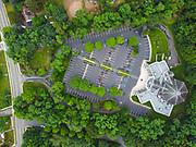 Aerial views of St Pius X Roman Catholic Church