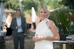 Man woman chic party date attractive garden