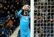 Boaz Myhill catches a cross during the The FA Cup match between West Bromwich Albion and Gateshead at The Hawthorns, West Bromwich, England on 3 January 2015. Photo by Alan Franklin.