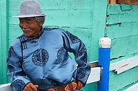 Mongolie, Province du Khentii, Badshireet, fetes du Naadam, population Bouriate // Mongolia, Khentii province, Badshireet, Naadam festival, Buriat population