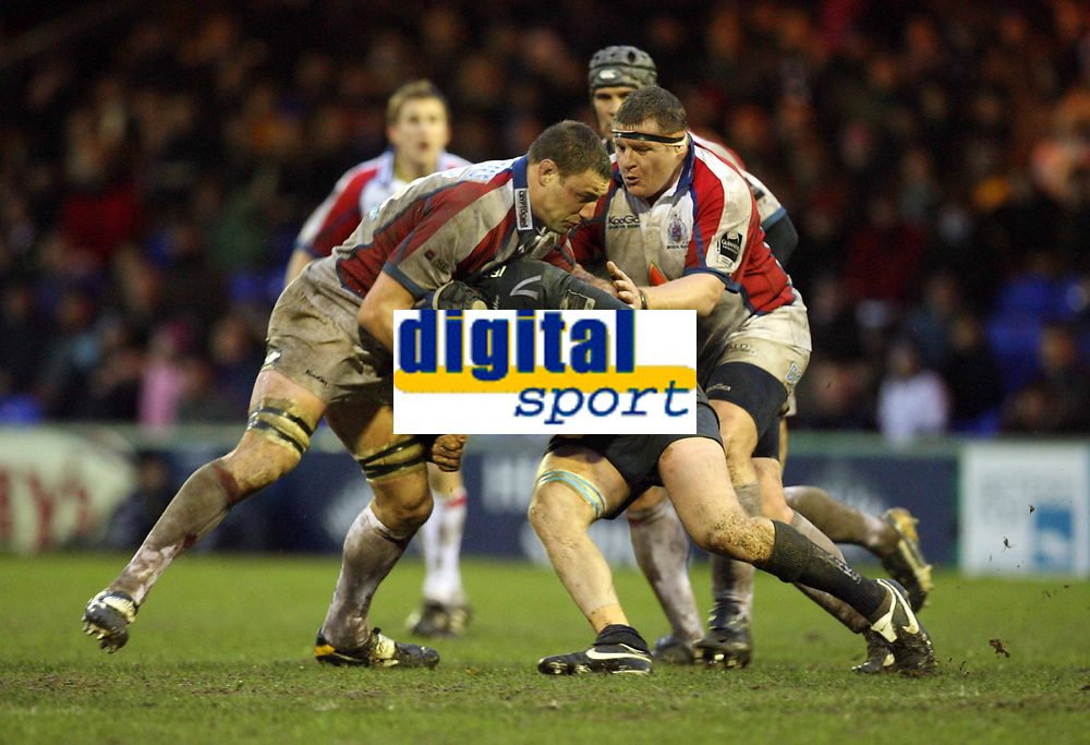 Photo: Rich Eaton.<br /> <br /> Sale Sharks v Bristol Rugby. Guinness Premiership. 01/01/2007. Magnus Lund with ball drives into the Bristol defence
