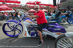The Masters II Show at the Easyriders Saloon presented by Misfit Industries during the 75th Annual Sturgis Black Hills Motorcycle Rally.  SD, USA.  August 7, 2015.  Photography ©2015 Michael Lichter.