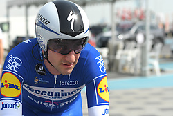 February 24, 2019 - Abu Dhabi, United Arab Emirates - Elia Viviani of Italy and Team Deceuninck-QuickStep, seen ahead of the Team Time Trial, the opening ADNOC stage of the inaugural UAE Tour 2019..On Sunday, February 24, 2019, Abu Dhabi, United Arab Emirates. (Credit Image: © Artur Widak/NurPhoto via ZUMA Press)