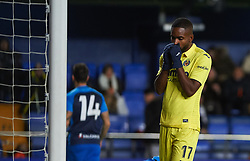 November 30, 2017 - Vila-Real, Castellon, Spain - Cedric Bakambu of Villarreal CF reacts during the Copa del Rey, Round of 32, Second Leg match between Villarreal CF and SD Ponferradina at Estadio de la Ceramica on november 30, 2017 in Vila-real, Spain. (Credit Image: © Maria Jose Segovia/NurPhoto via ZUMA Press)