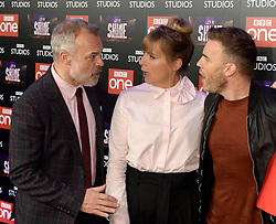 Graham Norton, Gary Barlow and Mel Giedroyc attending the BBC Let It Shine launch, The Ham Yard Hotel, London. Picture Credit Should Read: Doug Peters/EMPICS Entertainment