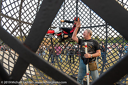 Globe of Death at the Volusia County Fairgrounds in Deland during Daytona Beach Bike Week, FL. USA. Friday, March 15, 2019. Photography ©2019 Michael Lichter.