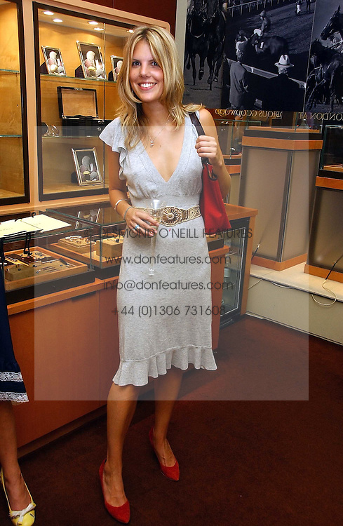 Right, The HON.VIRGINIA FRASER daughter of Lord Strathalmond at a party hosted by Links at their store in Sloane Square, London to celebrate the forthcoming Glorious Goodwood Racing festival held on 26th July 2006.<br /><br />NON EXCLUSIVE - WORLD RIGHTS