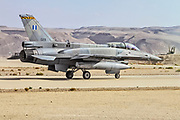 """Greek Air Force General Dynamics F-16D Block 52+ Ready for take off. Photographed at the  """"Blue-Flag"""" 2017, an international aerial training exercise hosted by the Israeli Air Force (IAF) at Ouvda airfield, Israel. November 2017"""