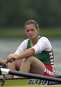 2002 FISA World Cup. Hazewinkel. BEL.       Friday  14/06/2002     .email images@Intersport-images.com.[Mandatory Credit: Peter Spurrier/Intersport Images]  .                                 /06/2002.Rowing    .BLR W2- .Natallia HALAPIATAVA (b) Rowing, FISA WC.Hazenwinkel, BEL