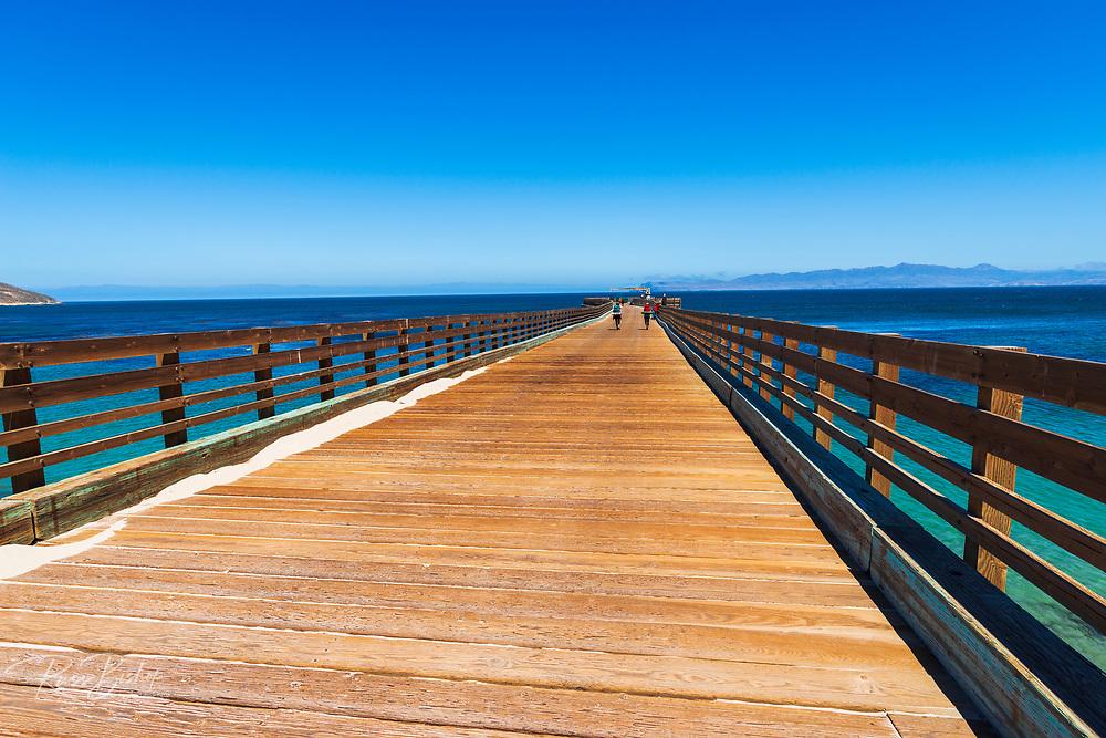 The Beechers Bay pier, Santa Rosa Island, Channel Islands National Park, California USA