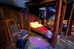 © Licensed to London News Pictures 27/02/2011 London, UK. .The Gryffindor  boys dormitory  inside The Warner Brothers Studio Tour, Leavesden, Herts where all 8 Harry Potter movies were made and opens to the public this week..Photo credit : Simon Jacobs/LNP