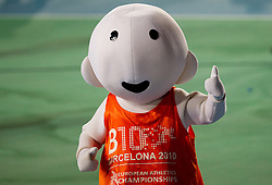 Mascot Barni  during day two of the 20th European Athletics Championships at the Olympic Stadium on July 28, 2010 in Barcelona, Spain. (Photo by Vid Ponikvar / Sportida)