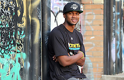 """01.10.2012, Zagreb, CRO, Portrait, D. J. Strawberry, im Bild der US Basketballspieler Darryl Eugene Strawberry der z.Z. für Cibona Zagreb spielt // """"D. J."""" Strawberry, Jr. is an American professional basketball player for Cibona Zagreb of the Croatian League. He is the son of former Major League Baseball player Darryl Strawberry // during a photocall in Zagreb, Croatia on 01.10.2012. EXPA Pictures © 2012, PhotoCredit: EXPA/ Pixsell/ Robert Anic..***** ATTENTION - OUT OF CRO, SRB, MAZ, BIH and POL *****"""