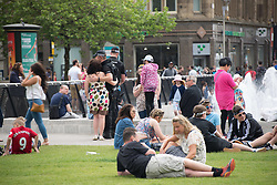May 27, 2017 - Manchester, England, United Kingdom - People participate in daily life, after the bombing of the Manchester Arena, in Manchester, United Kingdom on Saturday, May 27th, 2017. Greater Manchester Police are treating the explosion after the Ariana Grande concert, which took place on 05/22/2017 at Manchester Arena, as a terrorist incident. (Credit Image: © Jonathan Nicholson/NurPhoto via ZUMA Press)