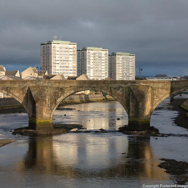 The Old Bridge of Ayr, Ayrshire, Scotland.