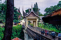 West Sumatra, Bukittinggi. The Limpapeh Bridge leads from the Benteng de Kock fort to the museum and the nearby zoo.