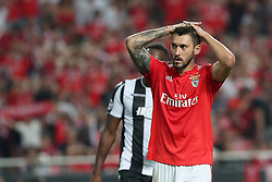 August 21, 2018 - Lisbon, Portugal - Benfica's Argentine forward Facundo Ferreyra reacts during the UEFA Champions League play-off first leg match SL Benfica vs PAOK FC at the Luz Stadium in Lisbon, Portugal on August 21, 2018. (Credit Image: © Pedro Fiuza via ZUMA Wire)
