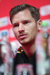 September 5, 2018 - Tubize, BELGIUM - Belgium's Jan Vertonghen pictured during a press conference of Belgian national soccer team the Red Devils in Tubize, Wednesday 05 September 2018. The team is preparing for a friendly match against Scotland on 07 September and the UEFA Nations League match against Iceland on 11 September. BELGA PHOTO BRUNO FAHY (Credit Image: © Bruno Fahy/Belga via ZUMA Press)