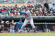 David Wright #5 of the New York Mets bats during a game against the Minnesota Twins on April 13, 2013 at Target Field in Minneapolis, Minnesota.  The Mets defeated the Twins 4 to 2.  Photo: Ben Krause
