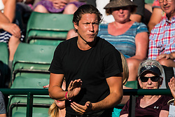 July 11, 2018 - London, England, U.S. - LONDON, ENG - JULY 11: american art curator VITO SCHNABEL during day nine match of the 2018 Wimbledon on July 11, 2018, at All England Lawn Tennis and Croquet Club in London,England. (Photo by Chaz Niell/Icon Sportswire) (Credit Image: © Chaz Niell/Icon SMI via ZUMA Press)