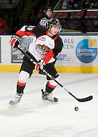 KELOWNA, CANADA, DECEMBER 3: Martin Marincin #28 of the Prince George Cougars skates on the ice as the Prince George Cougars visit the Kelowna Rockets  on December 3, 2011 at Prospera Place in Kelowna, British Columbia, Canada (Photo by Marissa Baecker/Shoot the Breeze) *** Local Caption ***