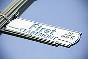 First Street Claremont Sign
