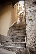 Alley stairs, Vernazza, Cinque Terre, Liguria, Italy