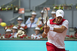 May 9, 2018 - Madrid, Madrid, Spain - NOVAK DJOKOVIC in a match against KYLE EDMUND during the 2nd round of Mutua Madrid Open 2018 - ATP in Madrid. KYLE EDMUND won the match 6-3 2-6 6-3. (Credit Image: © Patricia Rodrigues/via ZUMA Wire via ZUMA Wire)