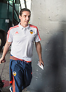 EXCLUSIVE <br /> VALENCIA, SPAIN, 2015, <br /> Gary Neville in Valencia airport keeps his smiles on his way to yet another defeat<br /> ©Exclusivepix Media