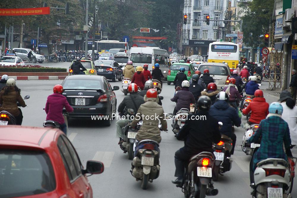 Vietnam, Hanoi, congested city centre