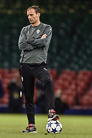 Massimiliano Allegri manager of Juventus during the training session ahead the UEFA Champions League Final between Real Madrid and Juventus at the National Stadium of Wales, Cardiff, Wales on 2 June 2017. Photo by Giuseppe Maffia.<br /> Giuseppe Maffia/UK Sports Pics Ltd/Alterphotos