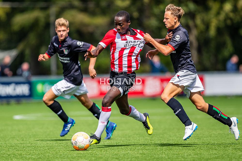 25-08-2018: Voetbal: O17 PSV v NEC OSS: Eindhoven<br /> Onder 17, JO17-1, Jeugd Supercup Onder 17 Supercup<br /> Seizoen 2018-2019<br /> (L-R) #5 Heritier Bora Deyonge (PSV o17), #2 Bart Derks (NEC/OSS o17)