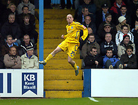 Photo: Olly Greenwood.<br />Colchester United v Leicester City. Coca Cola Championship. 13/01/2007. Leicester's Iain Hume celebrates scoring