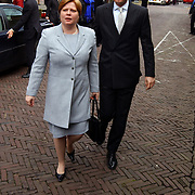 Mattheus Passion 2004 Naarden, Staatssecretaris van Onderwijs, Cultuur en Wetenschap Annette Nijs en haar man