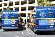 Anteater Express Electric Buses Charging at the University of California Irvine