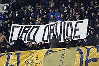 striscione tifosi Chievo Verona Banner dedicated to Fiorentina player Davide Astori suddenly dead some days ago <br /> Verona 10-03-2018 Stadio Bentegodi Football Calcio Serie A, Hellas Verona - Chievo Foto Image sport / Insidefoto
