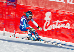 18.01.2013, Olympia delle Tofane, Cortina d Ampezzo, ITA, FIS Weltcup Ski Alpin, Abfahrt, Damen, 1. Training, im Bild Fraenzi Aufdenblatten (SUI) // Fraenzi Aufdenblatten of Switzerland in action during 1st practice of the ladies Downhill of the FIS Ski Alpine World Cup at the Olympia delle Tofane course, Cortina d Ampezzo, Italy on 2013/01/18. EXPA Pictures © 2013, PhotoCredit: EXPA/ Johann Groder
