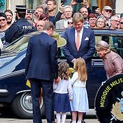 LUX/Luxembug/20180523 - Staatbezoek Luxemburg 2018 dag 1, aankost Willem-Alexander en Maxima verwelkomt door Groothertog Henri en Groothertogin Maria Terea