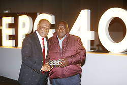 Vivian Reddy with his first employer Sipho Ngcobo <br /> Picture; DOCTOR NGCOBO