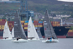Day 1 Scottish Series, SAILING, Scotland.<br /> <br /> Hunter 707, fleet, off Greenock with <br /> <br /> The Scottish Series, hosted by the Clyde Cruising Club is an annual series of races for sailing yachts held each spring. Normally held in Loch Fyne the event moved to three Clyde locations due to current restrictions. <br /> <br /> Light winds did not deter the racing taking place at East Patch, Inverkip and off Largs over the bank holiday weekend 28-30 May. <br /> <br /> Image Credit : Marc Turner / CCC