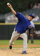 CHICAGO - JUNE 21:  Matt Garza #17 of the Chicago Cubs pitches against the Chicago White Sox on June 21, 2011 at U.S. Cellular Field in Chicago, Illinois.  (Photo by Ron Vesely)  Subject:  Matt Garza