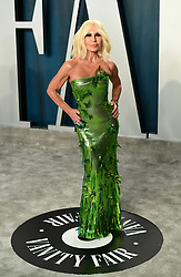 Donatella Versace attending the Vanity Fair Oscar Party held at the Wallis Annenberg Center for the Performing Arts in Beverly Hills, Los Angeles, California, USA.