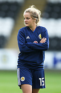 Sophie Howard (#15) of Scotland ahead of the 2019 FIFA Women's World Cup UEFA Qualifier match between Scotland Women and Switzerland at the Simple Digital Arena, St Mirren, Scotland on 30 August 2018.